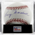 Autographs:Baseballs, Penny Marshall Single Signed Baseball, PSA Mint+ 9.5. PennyMarshall, director of the baseball movie A League of TheirOw...