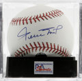 Autographs:Baseballs, Willie Mays Single Signed Baseball, PSA Gem Mint 10 The Say Hey Kidgives us this OML ball adorned with an immaculate sweet...