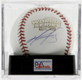 Autographs:Baseballs, David Ortiz 2004 World Series Single Signed Baseball, PSA Mint 9. Agorgeous side panel signature of the Red Sox outfielder...