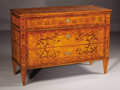 Furniture , A Pair of Neoclassical Walnut and Fruitwood Inlaid Commodes. Late 18th/early 19th century. Fruitwood, walnut. 35.5 inches ... (Total: 2 Items)