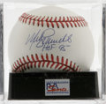 Autographs:Baseballs, Mike Schmidt Single Signed Baseball, PSA Mint+ 9.5. The great redheaded slugger of the Philadelphia Phillies has provided ...