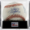 Autographs:Baseballs, 1988 USA Olympic Team Signed Baseball, PSA NM-MT+ 8.5. The USAOlympic Baseball team traveled to Seoul in 1988 with one thi...