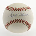 Autographs:Baseballs, Hank Aaron Single Signed Baseball. Mr. Henry Aaron, regarded as oneof the finest hitters who ever swung a bat, has applied...