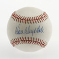 Autographs:Baseballs, Don Drysdale Single Signed Baseball. Paired with Koufax, Drysdalewas part of perhaps the most-feared pitching duos of all-...