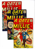 Silver Age (1956-1969):Romance, A Date With Millie #1 and 3-5 Group (Atlas, 1956) Condition:Average VG.... (Total: 4 Comic Books)