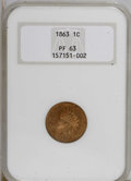 Proof Indian Cents, 1863 1C PR63 NGC....