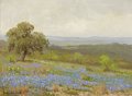 Texas:Early Texas Art - Impressionists, PORFIRIO SALINAS (1910-1973). Texas Wildflowers. Oil on woodpaneling. 9 x 12 inches (22.9 x 30.5 cm). Signed lower left...