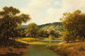 Texas:Early Texas Art - Impressionists, R. D. ENRIGHT ( b. 1921). Untitled Texas Hill Country River andLandscape. Oil on canvas. 24 x 36 inches (61.0 x 91.4 cm...