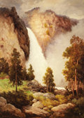 Texas:Early Texas Art - Impressionists, ROBERT WOOD (1889-1979). Yosemite Falls, 1935. Oil oncanvas. 36 x 26 inches (91.4 x 66.0 cm). Signed lower right.Title...