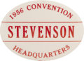 Political:Pinback Buttons (1896-present), Adlai Stevenson: 1956 Convention Headquarters Oval....