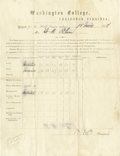 "Autographs:Military Figures, General Robert E. Lee Washington College Document Signed ""R ELee"". One page, 8"" x 10.5"", partly printed, Lexington, Vir...(Total: 3 Items)"