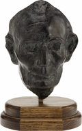 Political:3D & Other Display (pre-1896), Lincoln Life Mask Cast in Bronze....