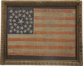 Antiques:Decorative Americana, Small 33 Star United States Flag....