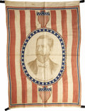 Political:Textile Display (pre-1896), Winfield Scott Hancock: An Extremely Rare 1880 Campaign Flag Banner. ...