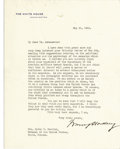 Autographs:U.S. Presidents, Warren G. Harding Typed Letter Signed,...