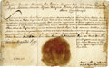 "Autographs:Non-American, Polish King Stanislaus II Document Signed, ""Stanislaus AugustusRex,"" one page, 14.5"" x 9.5"", October 12, 1771. A milit..."