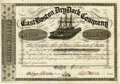 """Miscellaneous:Ephemera, Maritime Stock Certificate, East Boston Dry Dock Company, partiallyprinted document, two pages, 9"""" x 6.5"""", Boston, April 25..."""