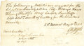 "Autographs:Military Figures, G. W. Ingels Autograph Document Signed, one page, 7.75"" x 4.25"", n.p., May 15, 1810, to Tench Cove, likely Mississippi. It r..."