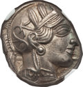Ancients:Greek, Ancients: ATTICA. Athens. Ca. 454-414 BC. AR tetradrachm (17.13gm)....
