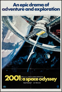 "2001: A Space Odyssey (MGM, 1968). One Sheet (27"" X 41"") Style A. Science Fiction"