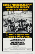 "Movie Posters:Academy Award Winners, One Flew Over the Cuckoo's Nest (United Artists, R-1978). One Sheet(27"" X 41"") Academy Award Winner Style. Drama.. ..."