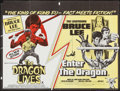 "Movie Posters:Action, Bruce Lee: The Man, The Myth/Enter the Dragon Combo (BrentWalker/Columbia Warners, 1970s). British Quad (29.75"" X 39.75"")...."