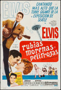 "Movie Posters:Elvis Presley, It Happened at the World's Fair (MGM, 1963). Argentinean Poster(29"" X 43""). Elvis Presley.. ..."