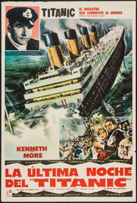 """A Night to Remember (Rank, 1959). Argentinean Poster (29"""" X 43""""). Drama"""