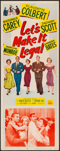 "Movie Posters:Comedy, Let's Make It Legal (20th Century Fox, 1951). Insert (14"" X 36"").Comedy.. ..."