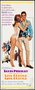"Movie Posters:Elvis Presley, Live a Little, Love a Little (MGM, 1968). Insert (14"" X 36""). Elvis Presley.. ..."