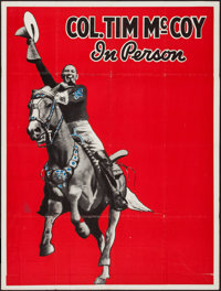"""Col. Tim McCoy in Person (1936). Stock Two Sheet (42"""" X 56""""). Western"""