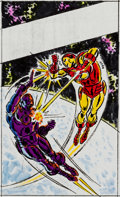 Original Comic Art:Sketches, John Romita Sr. Iron Man: And Call My Killer... MODOK! Cover Color Sketch (Marvel/Pocket Books, 1979)....
