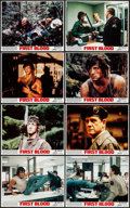 "Movie Posters:Action, First Blood (Orion, 1982). Mini Lobby Card Set of 8 (8"" X 10""). Action.. ... (Total: 8 Items)"