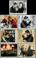 "Movie Posters:Academy Award Winners, Gone with the Wind (MGM, R-1961/R-1967/R-1974). Color Photo, British Front of House Color Photos (4), and Photos (2) (8"" X 1... (Total: 7 Items)"