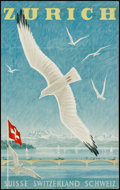 "Movie Posters:Miscellaneous, Zurich by Alex Diggelmann (1949). Swiss Travel Poster (25"" X 40"").Miscellaneous.. ..."