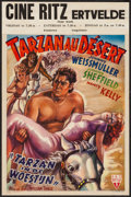 "Movie Posters:Adventure, Tarzan's Desert Mystery (RKO, 1940s). First Post-War ReleaseBelgian (14.25"" X 21.25""). Adventure.. ..."
