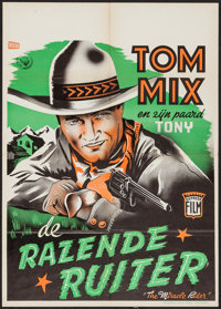 """The Miracle Rider (Express Film, 1935). Dutch Poster (19.5"""" X 27.5""""). Serial"""