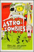 "Movie Posters:Science Fiction, Astro-Zombies (Geneni, 1968). One Sheet (27"" X 41""). ScienceFiction.. ..."