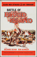 """Movie Posters:War, Battle of Blood Island & Others Lot (Filmgroup, Inc., 1960).One Sheet (27"""" X 41"""") & Lobby Cards (2) (11"""" X 14""""). War.. ...(Total: 3 Item)"""