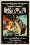 "Movie Posters:War, Where Eagles Dare (MGM, R-1973). One Sheet (27"" X 41""). War.. ..."