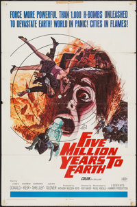 "Five Million Years to Earth (20th Century Fox, 1967). One Sheet (27"" X 41""). Science Fiction"