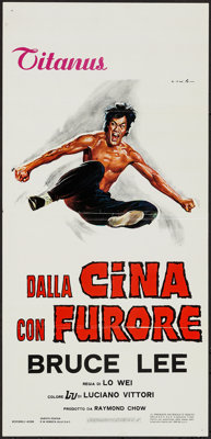 "The Chinese Connection (Titanus, 1973). Italian Locandina (13"" X 27.5""). Action"