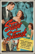 "Movie Posters:Crime, Stage Struck & Other Lot (Monogram, 1948). One Sheets (2) (27""X 41""). Crime.. ... (Total: 2 Items)"