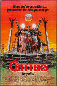 """Critters & Others Lot (New Line, 1986). One Sheets (100) (27"""" X 41"""") Flat Folded. Science Fiction..."""