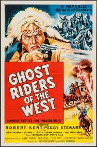"""Ghost Riders of the West (Republic, R-1954). One Sheets (5) (27"""" X 41""""). Serial. Original Title: The Phantom R..."""
