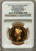 Ascension Island, Ascension Island: Elizabeth II gold Proof 50 Pounds 2012 PR69 Ultra Cameo NGC,...