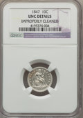Seated Dimes: , 1847 10C -- Improperly Cleaned -- NGC Details. Unc. NGC Census: (0/13). PCGS Population (1/15). Mintage: 245,000. Numismedi...