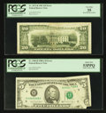 Error Notes:Error Group Lots, Fr. 1980-H $5 1988A Federal Reserve Note. PCGS About New 53PPQ;.Fr. 2073-B $20 1981 Federal Reserve Note. PCGS Very Fine 35....(Total: 2 notes)