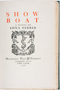 [Featured Lot]. Edna Ferber. SIGNED/LIMITED. Show Boat. Garden City: Doubleday, Page & Company