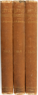 [Featured Lot]. J.M. Barrie. The Little Minister... In Three Volumes. London: Cassell & Company